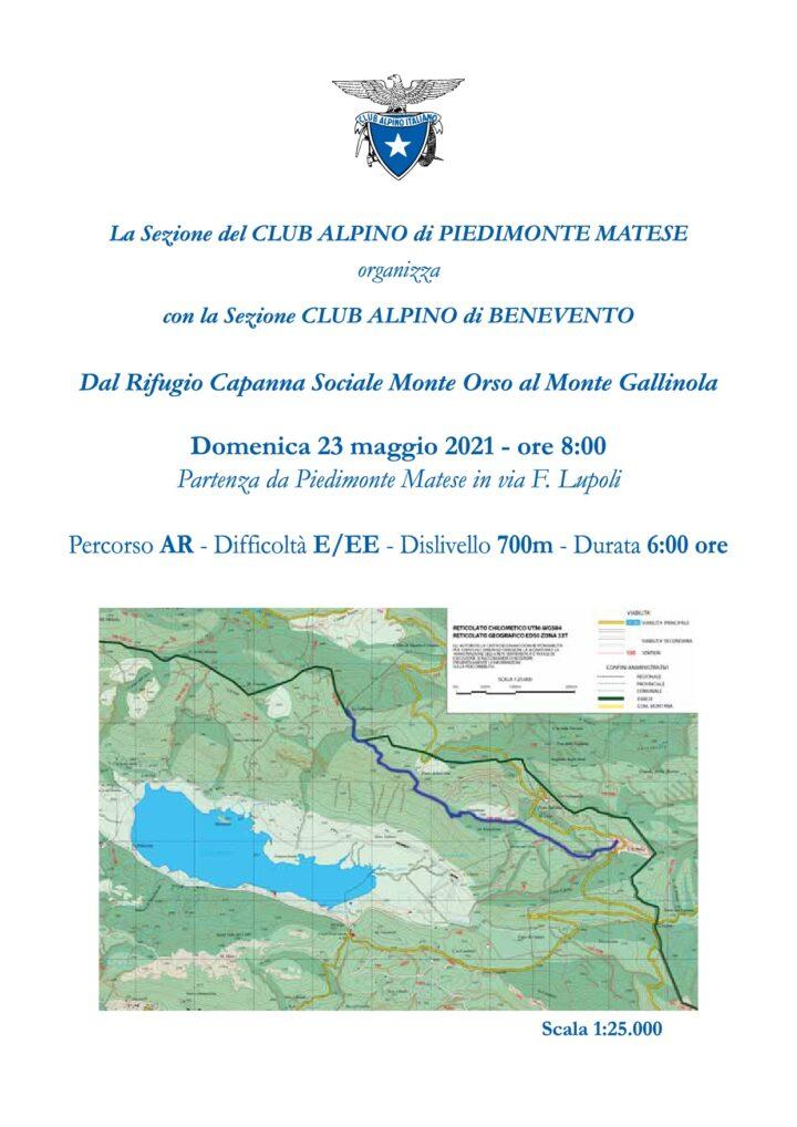 Domenica 23/05/2021 - dal rifugio capanna sociale monte Orso al monte Gallinola