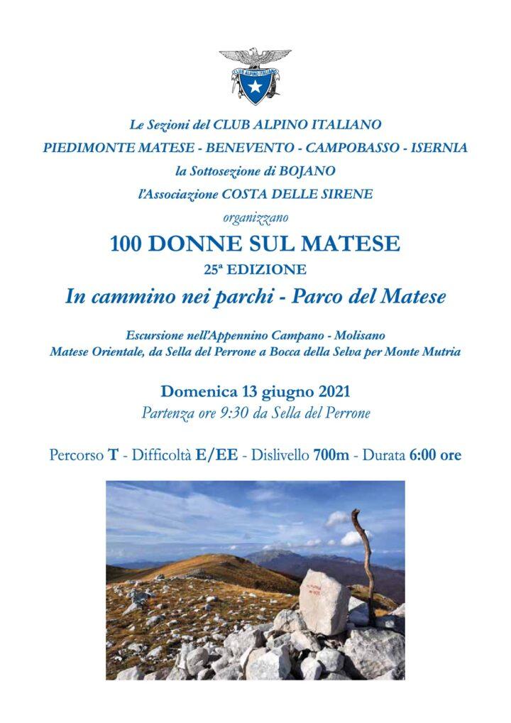 Domenica 13/06/2021 - 100 Donne sul Matese - 25^ Edizione