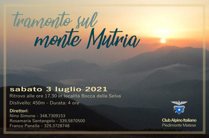 Sabato 3 luglio 2021 – Tramonto sul Monte Mutria