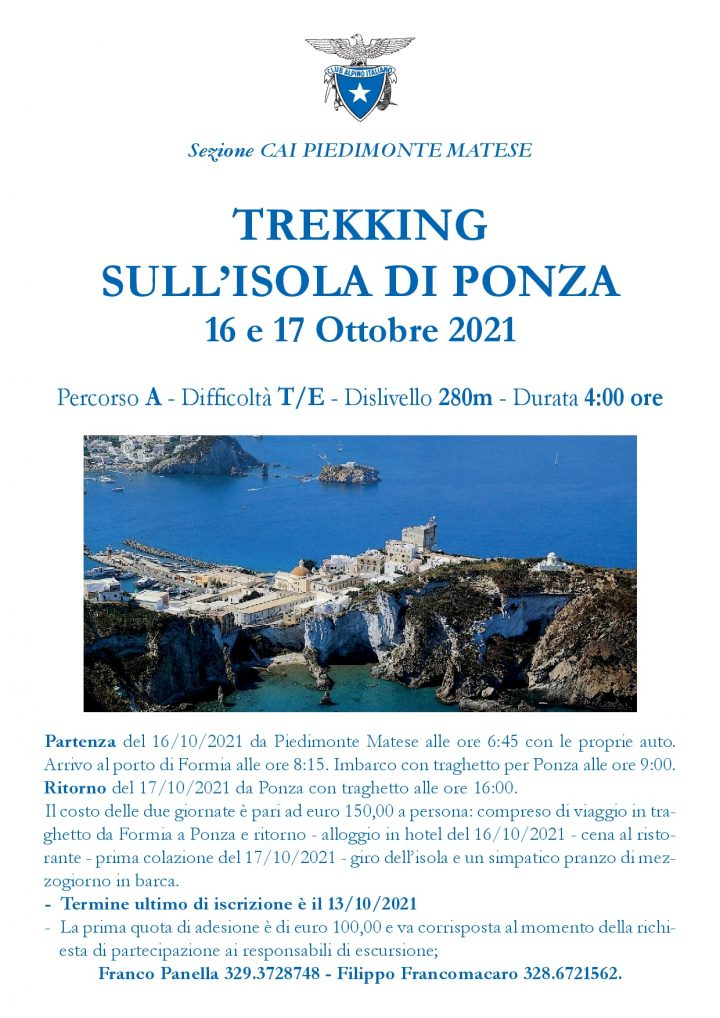 16 e 17 Ottobre 2021 - Trekking Isola di Ponza